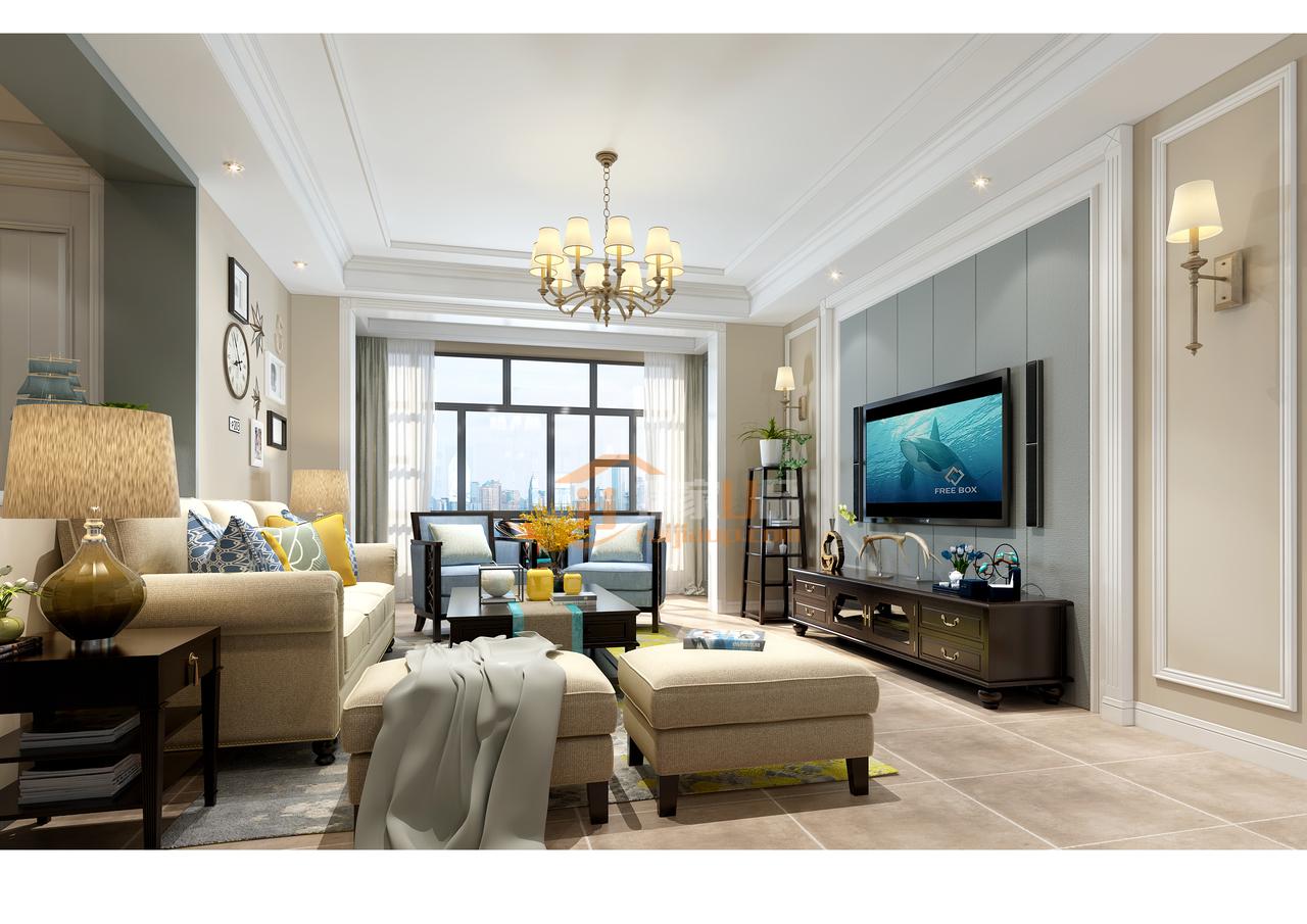 美的林城现代美式,带来一种清雅生活的舒适之感,,,122.0㎡