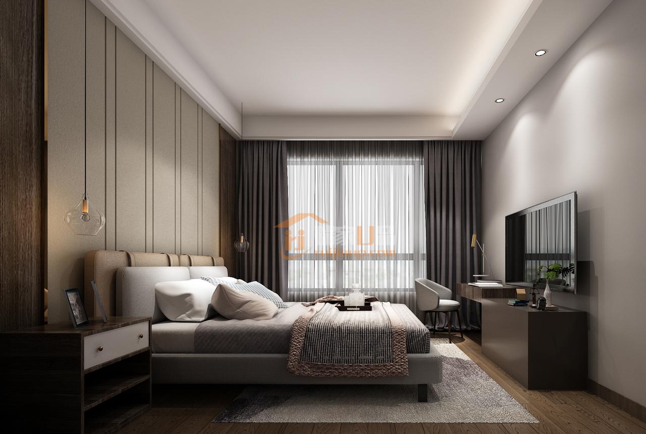最典型的现代简约风格,令所有的色调统一,同时,细节处流露出精致的生活情调,这便是轻奢风格的真谛。