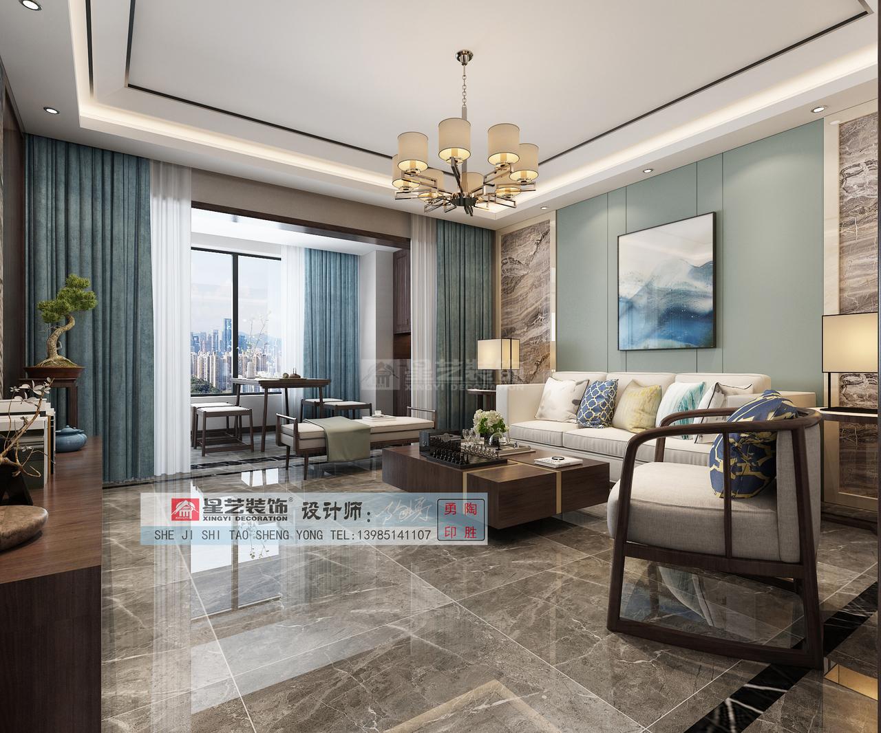 中天铭庭C现代,韩式,单身公寓,142.0㎡