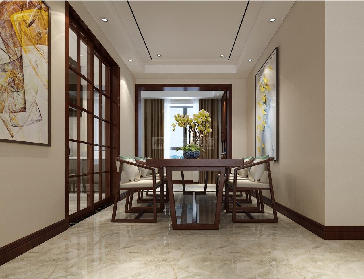 首开紫郡新中式,风华绝代,优雅端庄的高贵,新中式,三居室,132.0㎡