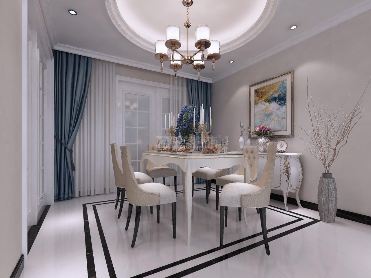 美的林城时代美景苑简欧,简欧,单身公寓,120.0㎡