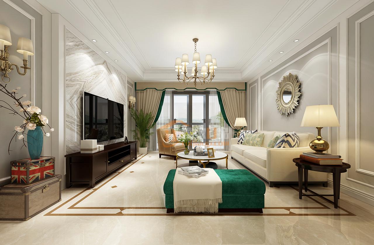 美的林城祖母绿融入简美风装修的世界,优雅的像个贵族,,,125.0㎡
