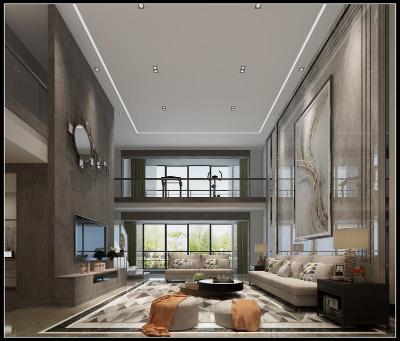 新中式风格,装修效果图,贵阳别墅装修公司,贵阳星艺装饰