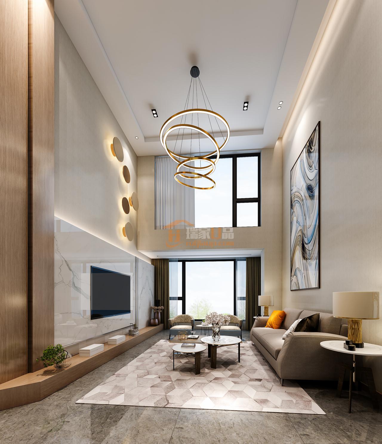 现代风格案例装修效果图,营造多元化空间,一个色彩丰富有层次的家,