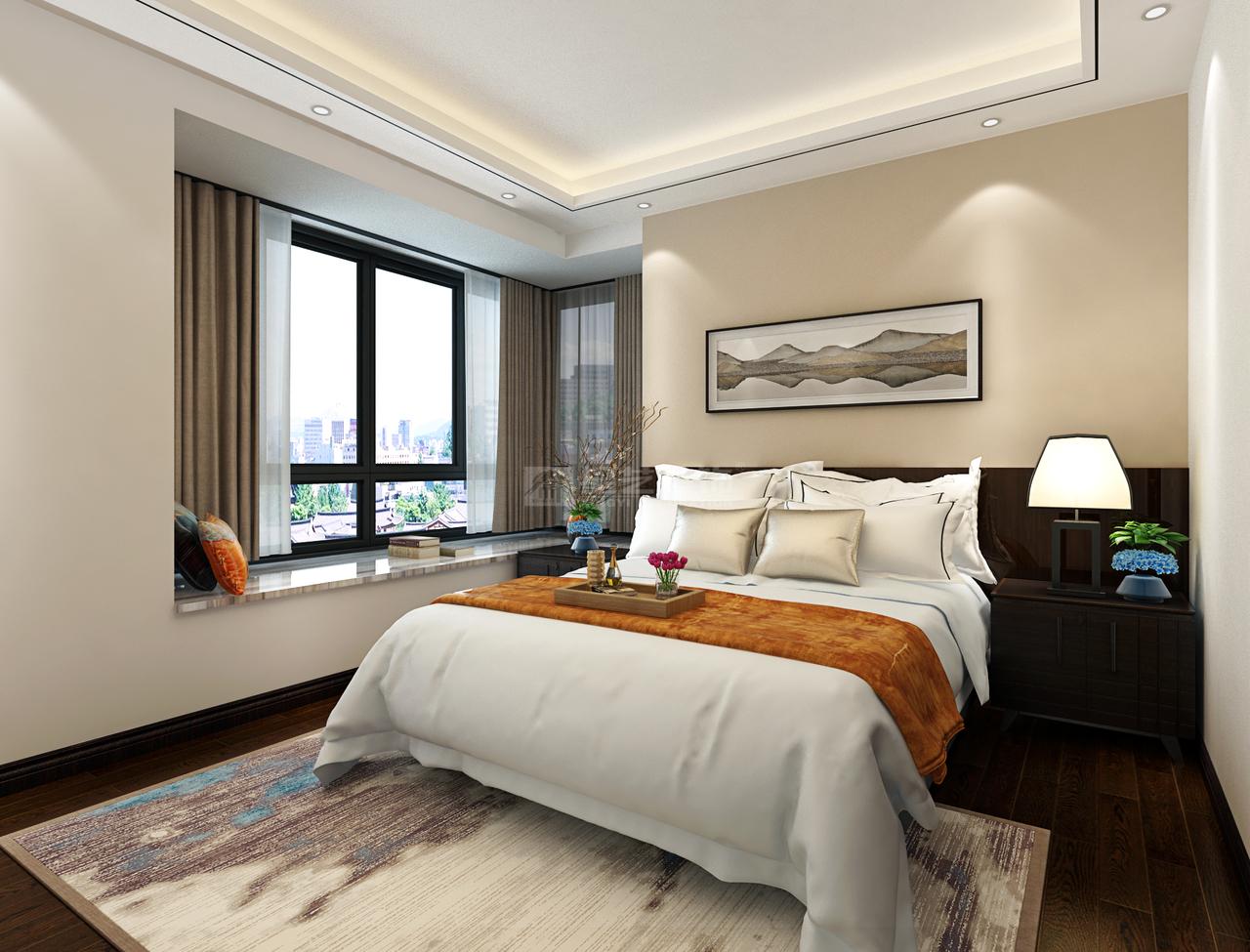 恒大中央公园B简约,后现代,单身公寓,113.0㎡