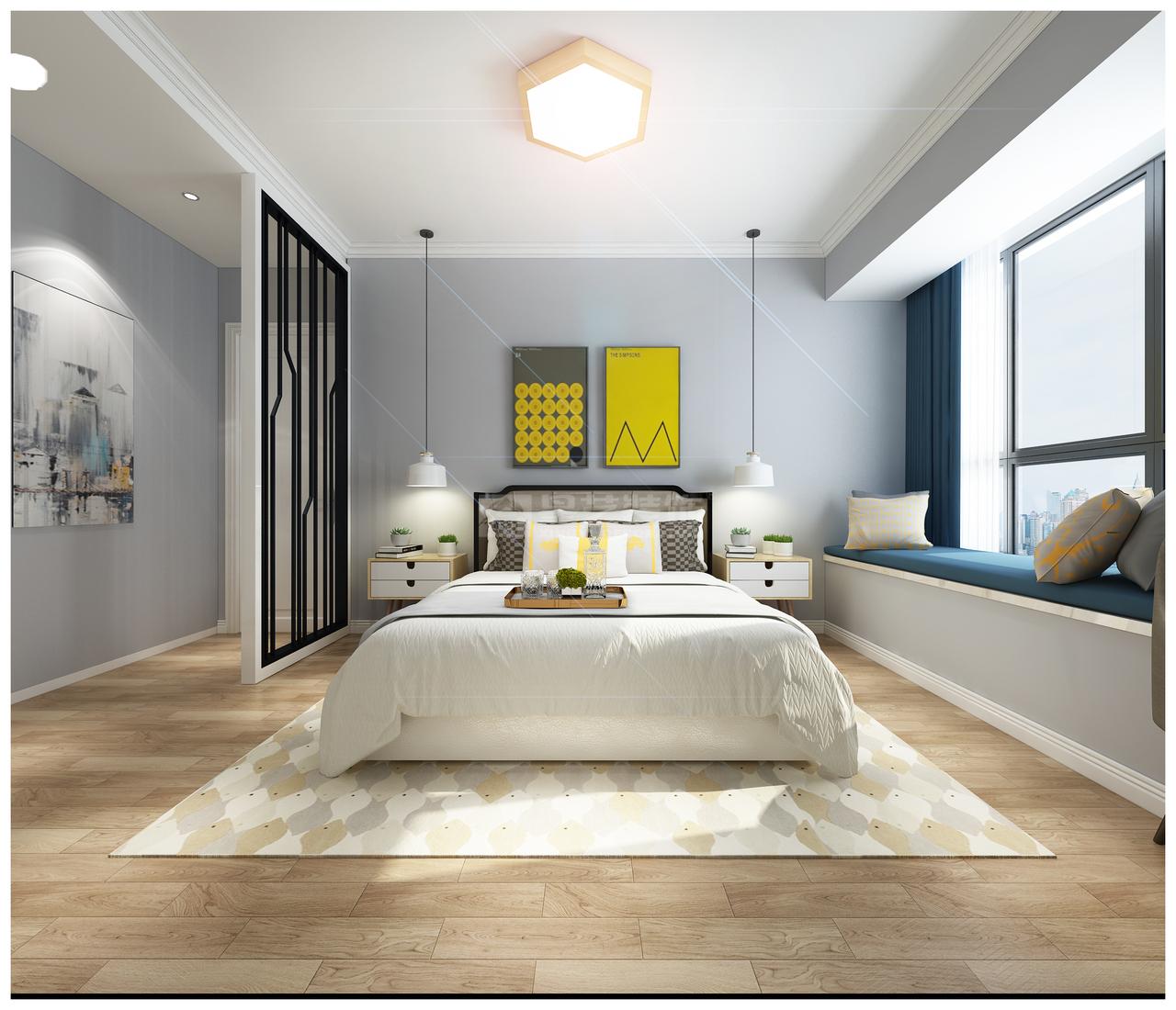 中天未来方舟D现代,现代,单身公寓,123.0㎡
