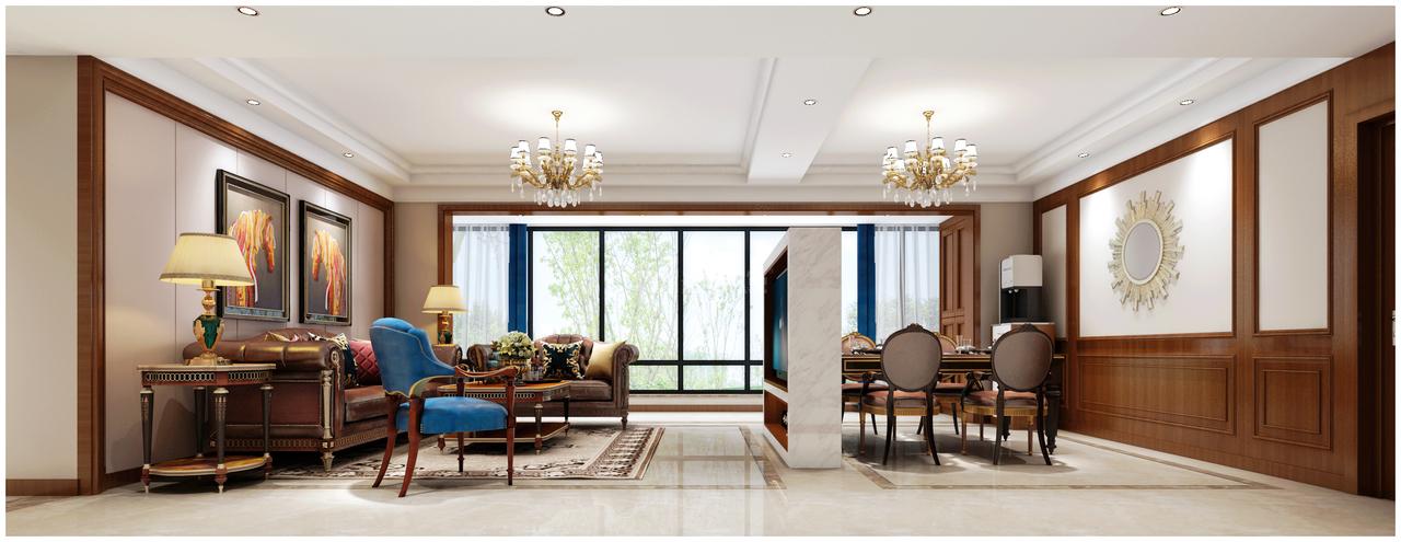 南岳大院美式,美式,单身公寓,109.0㎡