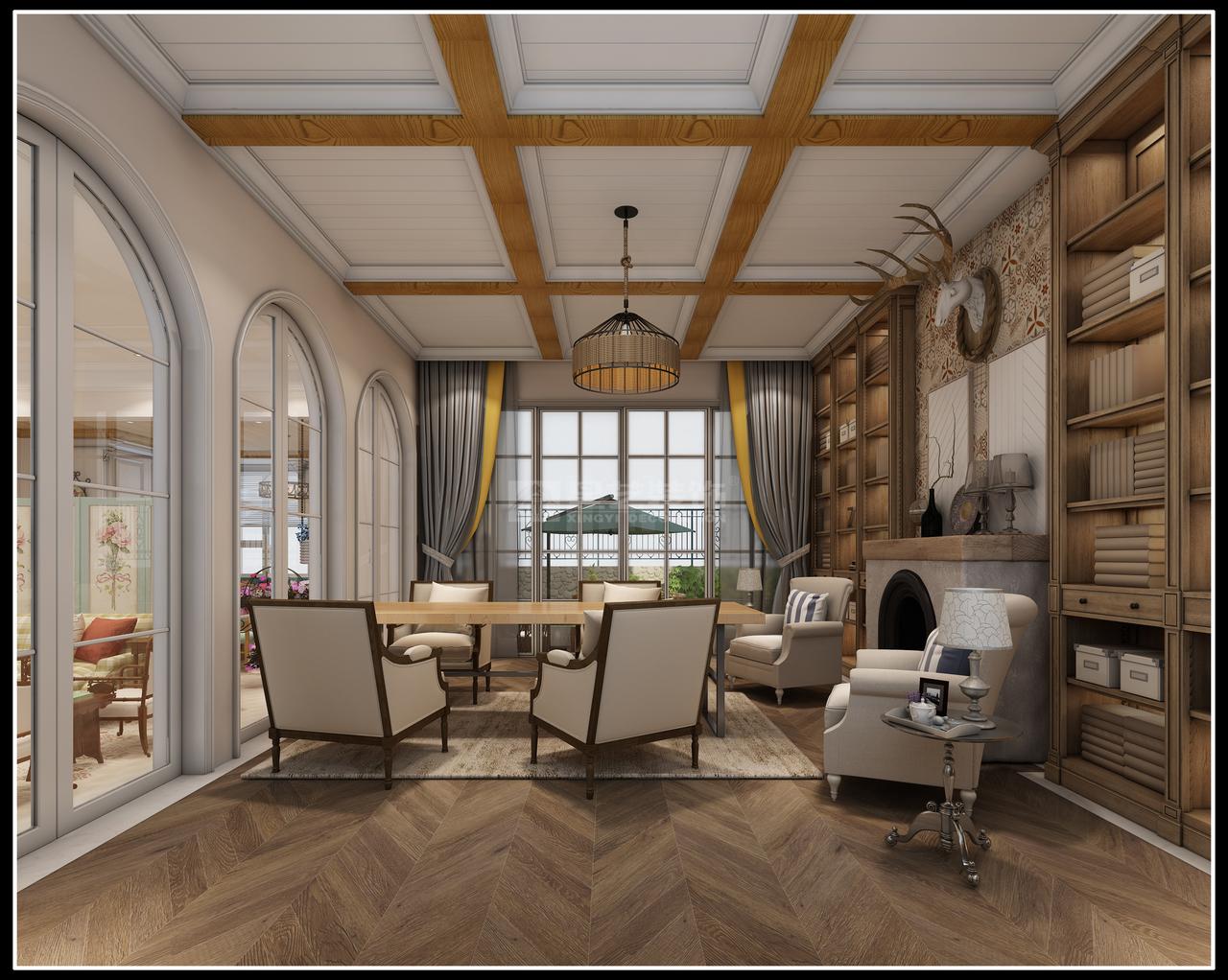 简美装饰风格以功能舒适为导向空间做了合理细致的规划。