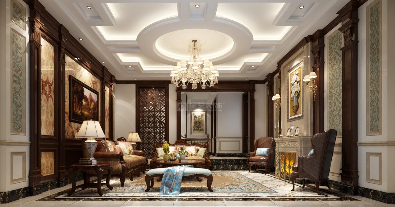 客厅作为待客区域,一般要求简洁明快,同时装修较其它空间要更明快光鲜,通常使用大量的石材和木饰面装饰;