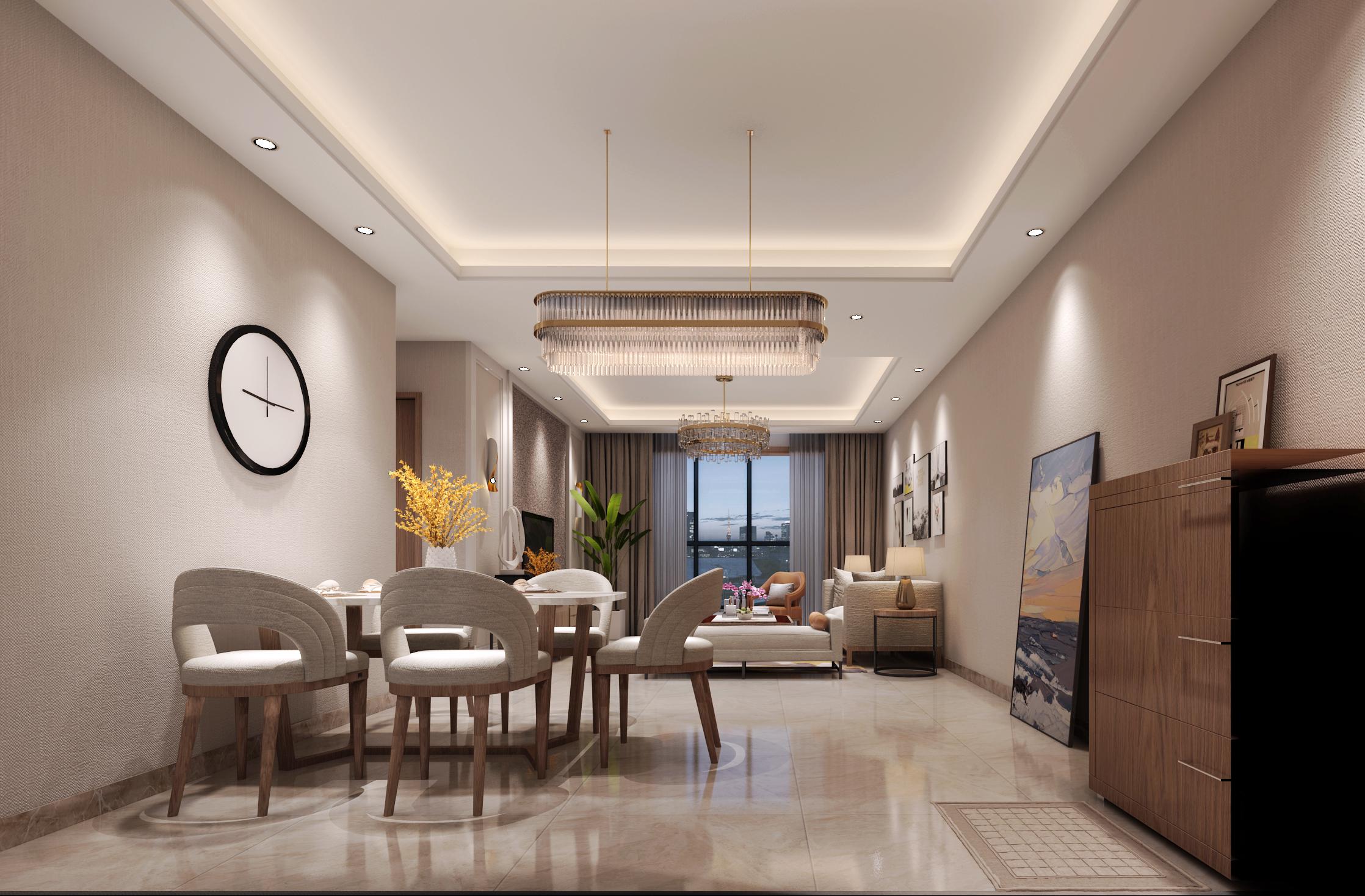 美的林城美福苑现代,现代,三居室,90.0㎡