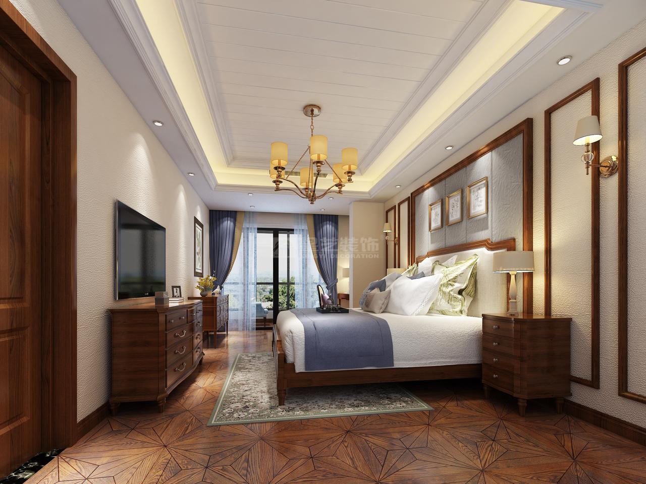 美的林城时代美式不一样的典雅与温馨,美式,复式,245.0㎡