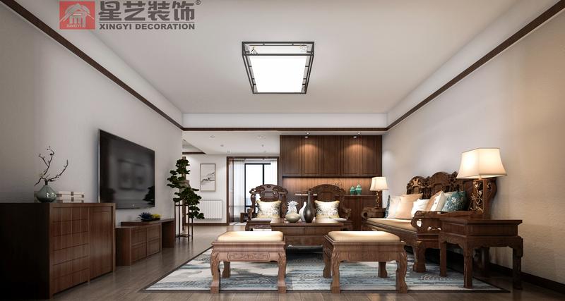 新中式,装修风格,贵阳别墅装修公司,贵阳星艺装饰,室内设计