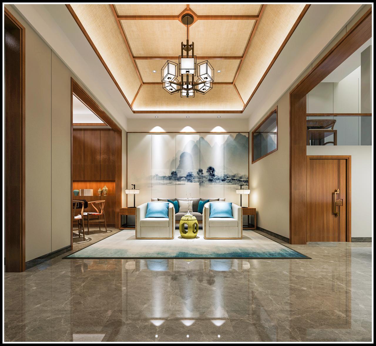 美的林城轻奢新中式,让你活出精致与品位!,新中式,轻奢,四居室,166.0㎡