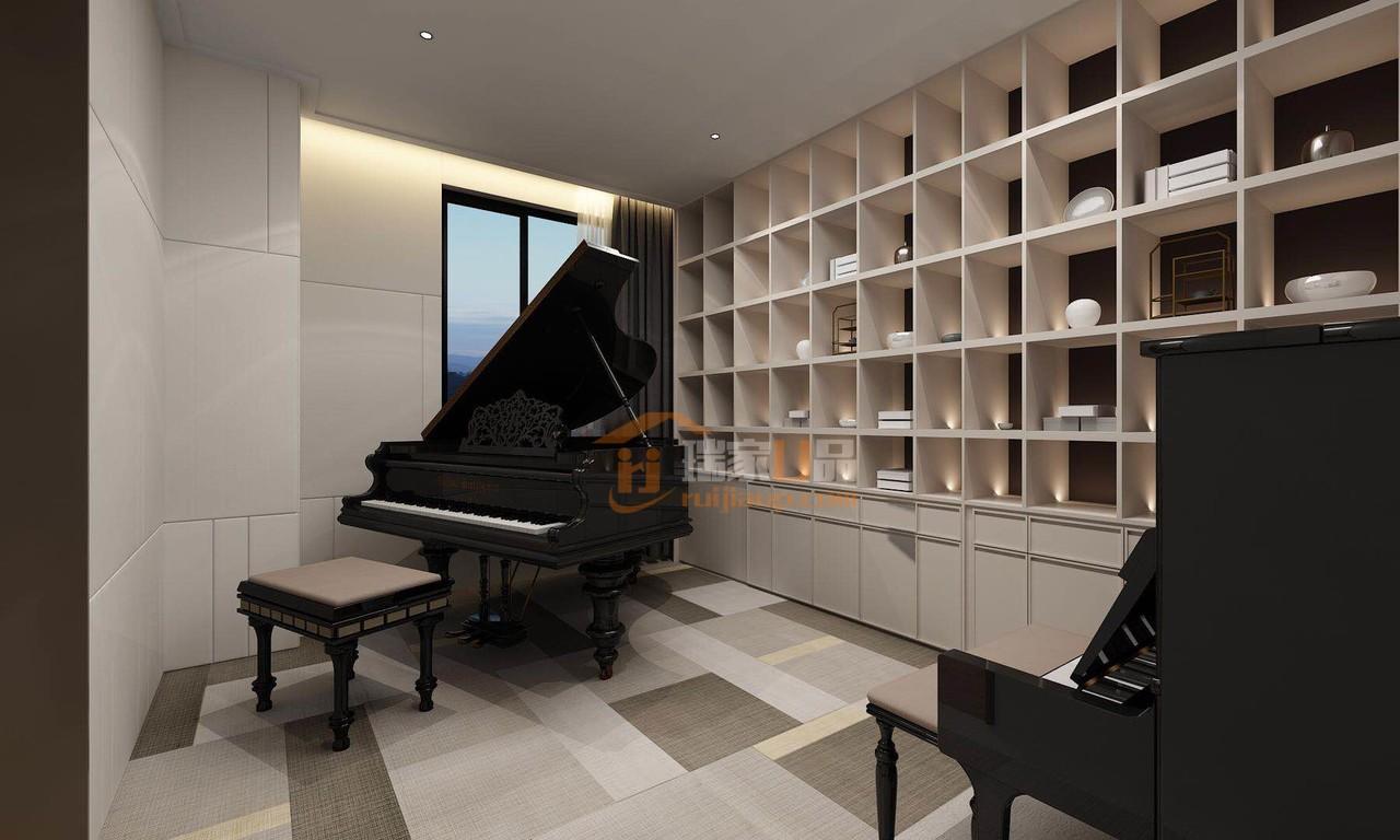 贵阳现代轻奢风格设计效果图-琴房