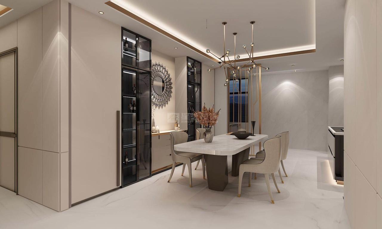 贵阳现代轻奢风格设计效果图-餐厅