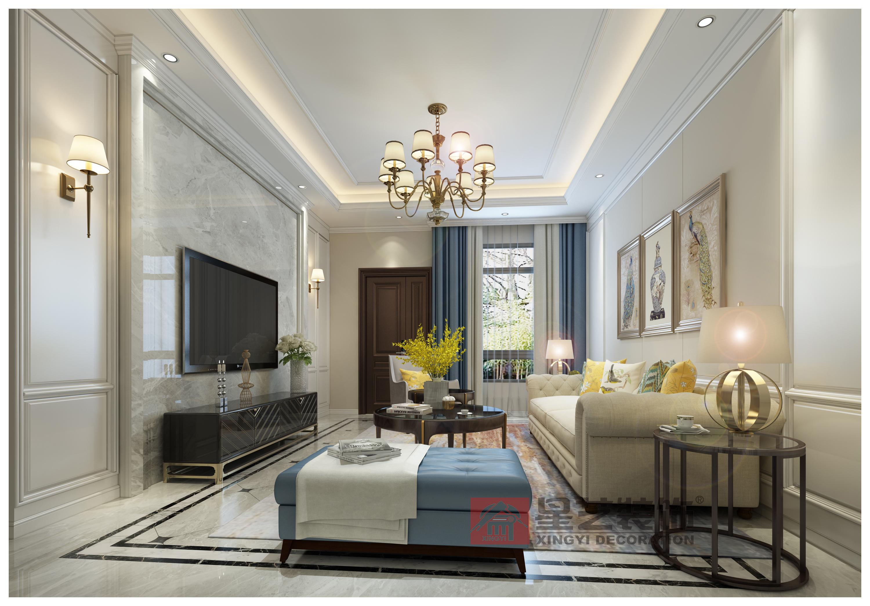 贝博app手机版别墅设计,ballbet贝博登陆装饰,美式别墅,美的国宾府