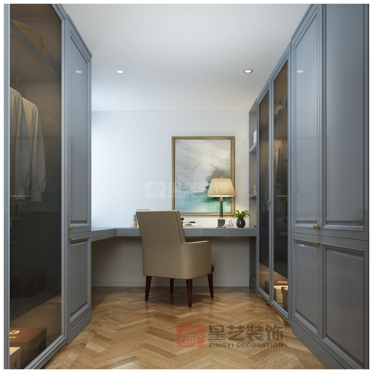 此项目以优雅美式风格定位,以自然主义的格调为主,最为突出的特征是化繁为简。古典气息,舒适,优雅。