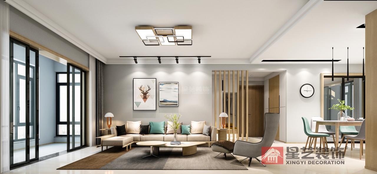 现代北欧风格雅居简约而时尚,简约,单身公寓,143.0㎡