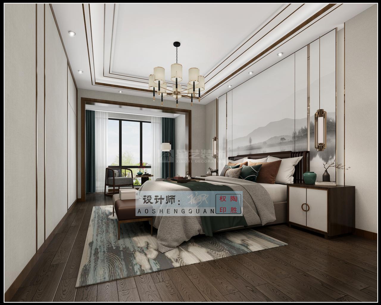 贵阳美的林城时代新中式与轻奢风的巧妙碰撞的现代中式风格,彰显永恒美感!