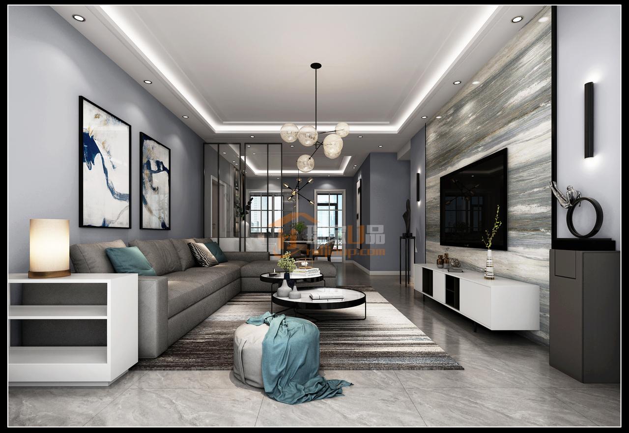 贵阳美的林城时代黑白灰咨询设计效果图,低调轻奢范儿的经典搭配!