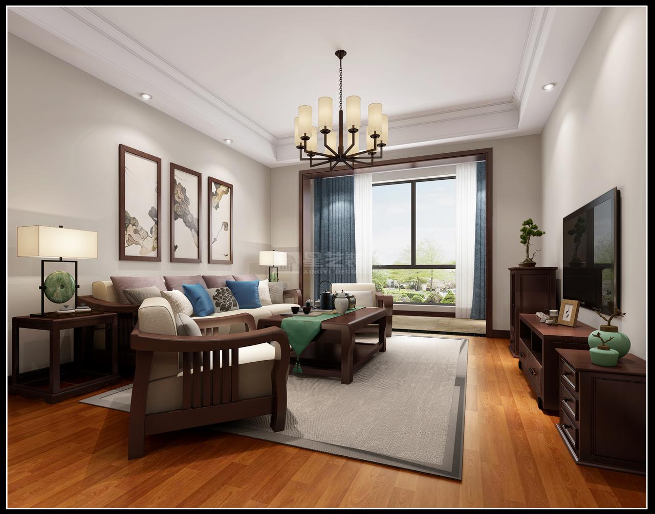 贵阳星艺装饰70平米职工房新中式案例,小房子大智慧----一切设计装修来搭配!