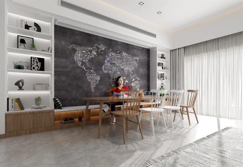 本套住宅有精美的细节设计,并有效结合轻松的白色、灰色、天蓝色,彰显出温馨别致的感觉。
