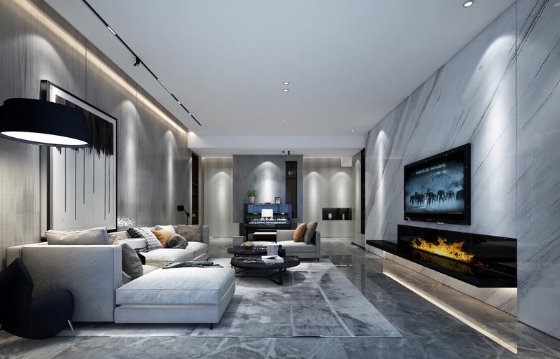贵阳新房装修,大平层装修,后现代,高级灰装修,设计效果图,星艺装饰