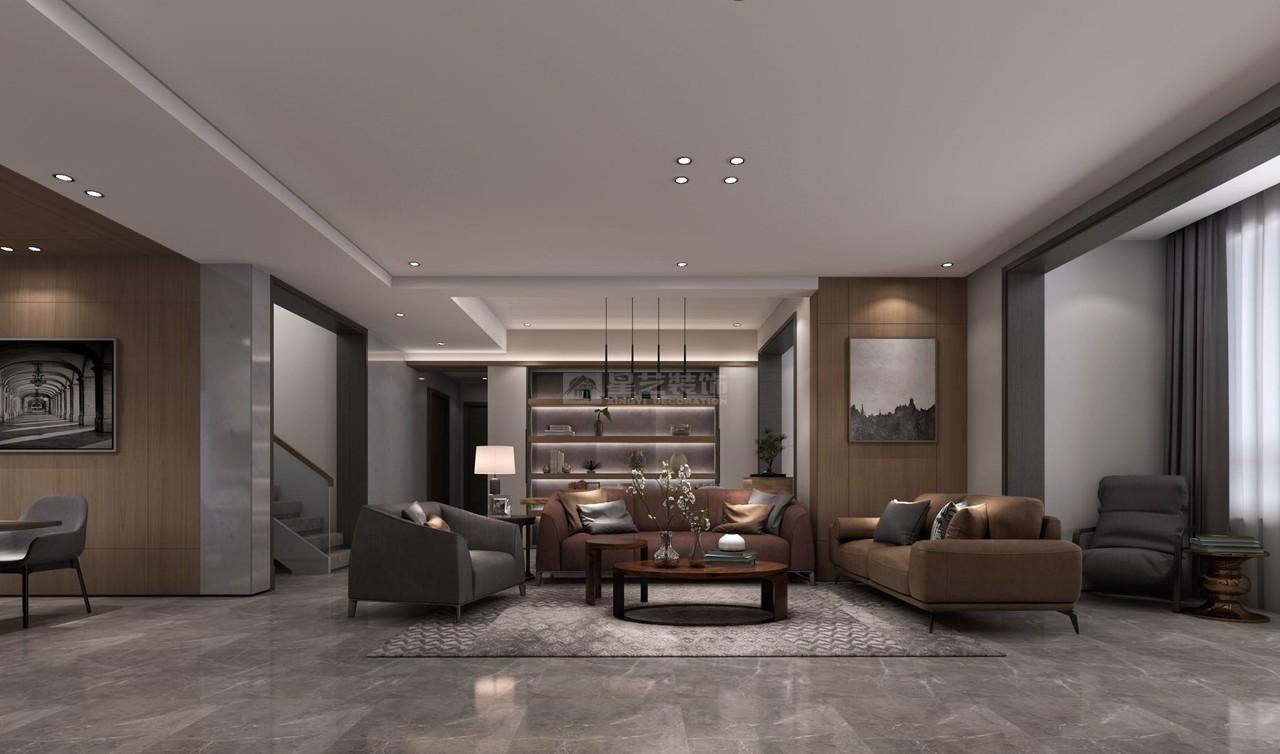 美的林城简洁、大气的现代黑白灰风格!,韩式,别墅,262.0㎡