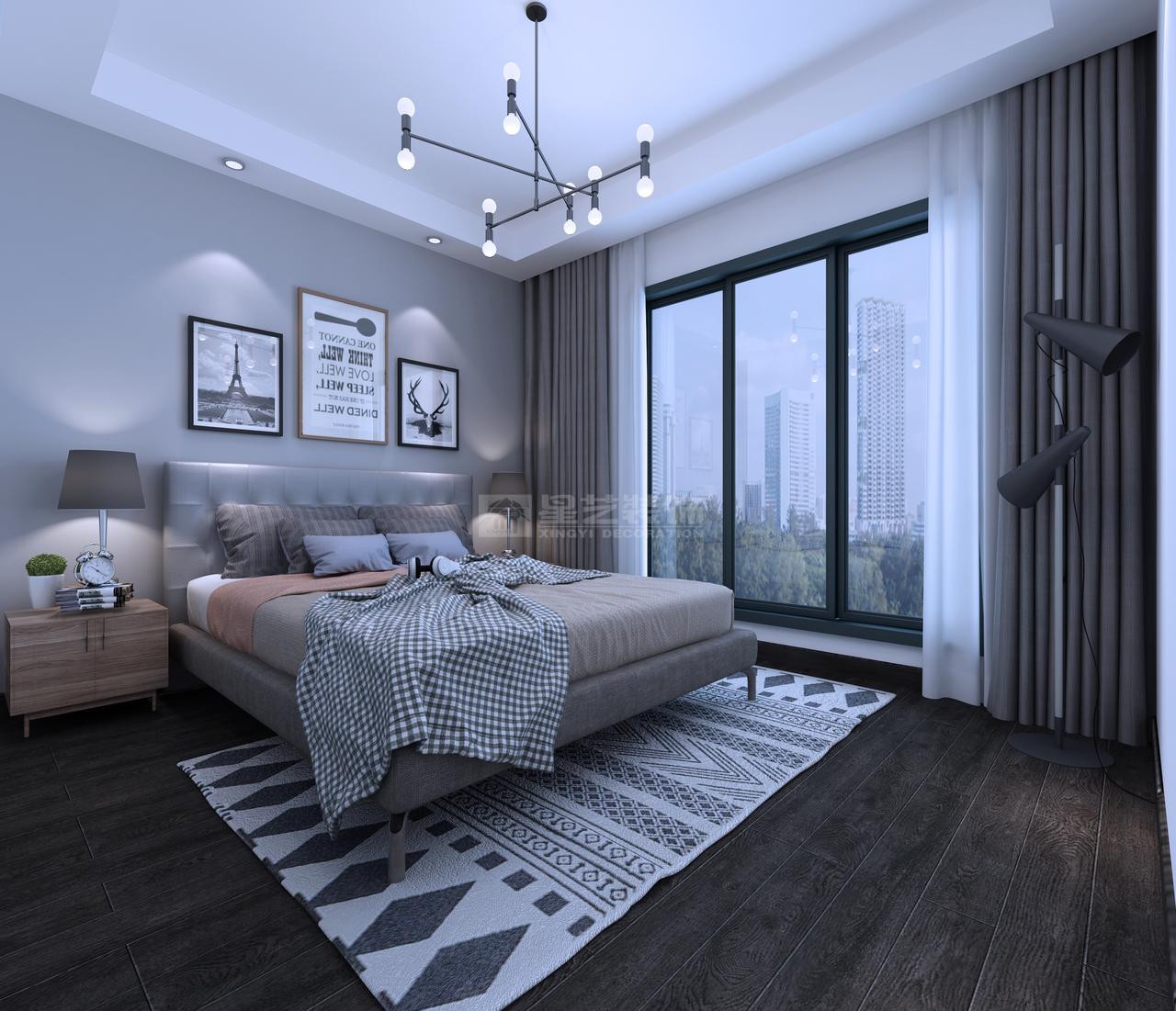 美的国宾府现代轻奢风雅居如同初恋女神一般让人心动,韩式,单身公寓,140.0㎡