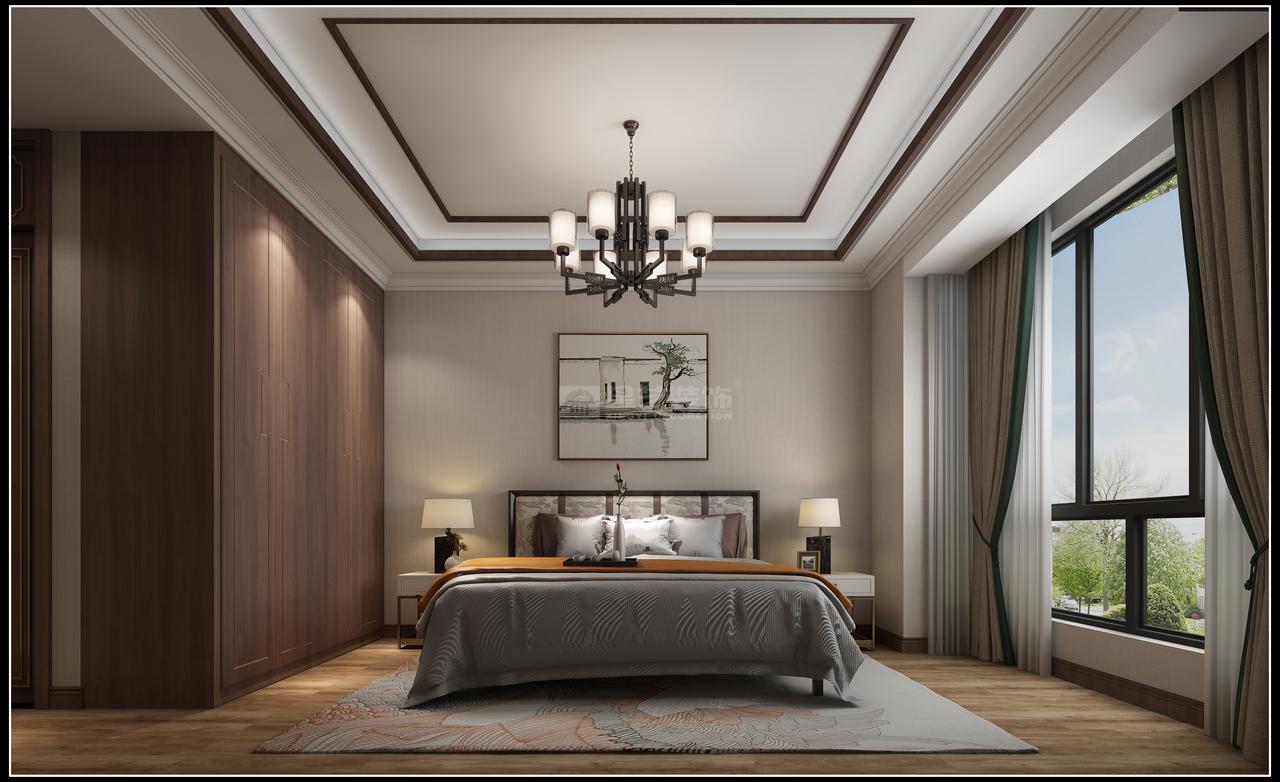 贵阳鸿基君临天下,都市花园卧室装修设计效果图!