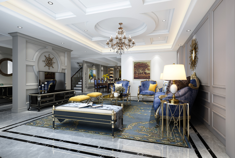 贵阳洋房装修,贵阳复式楼装修,欧式风格设计,装修效果图