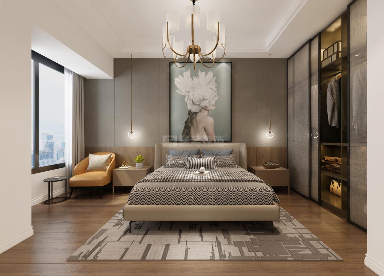 本案为满屏透着高级美的现代轻奢风格装修,其实越来越流行的轻奢风是以高品质、设计感,突出舒适、简约为风格特点。