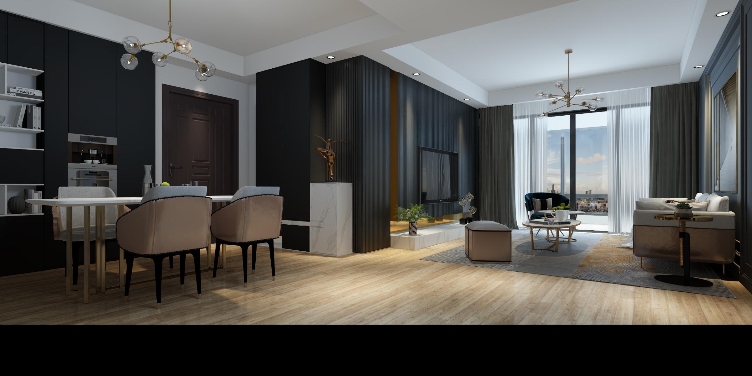 贵阳新房装修,现代简约风格。