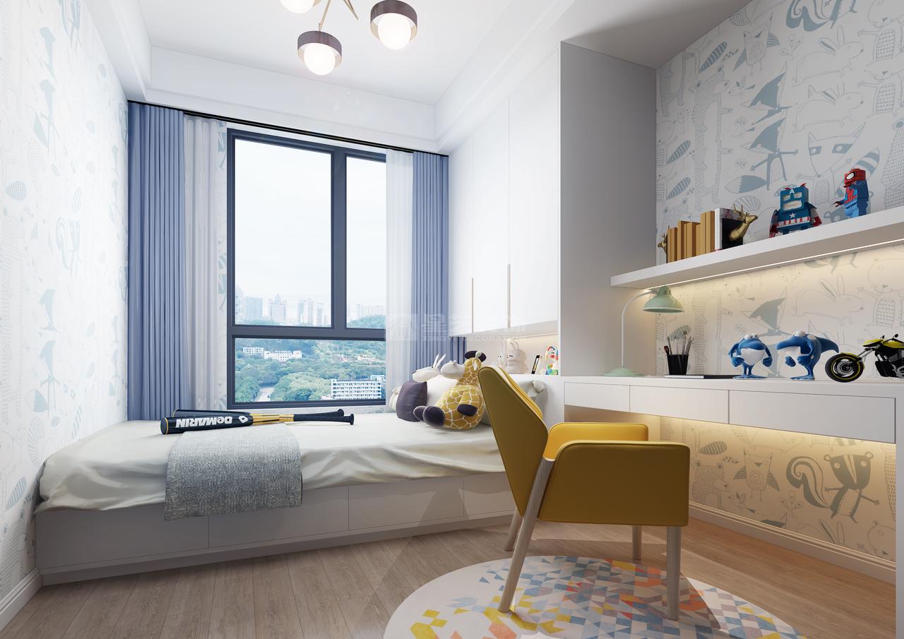 美的林城美景苑现代简约风,韩式,单身公寓,125.0㎡