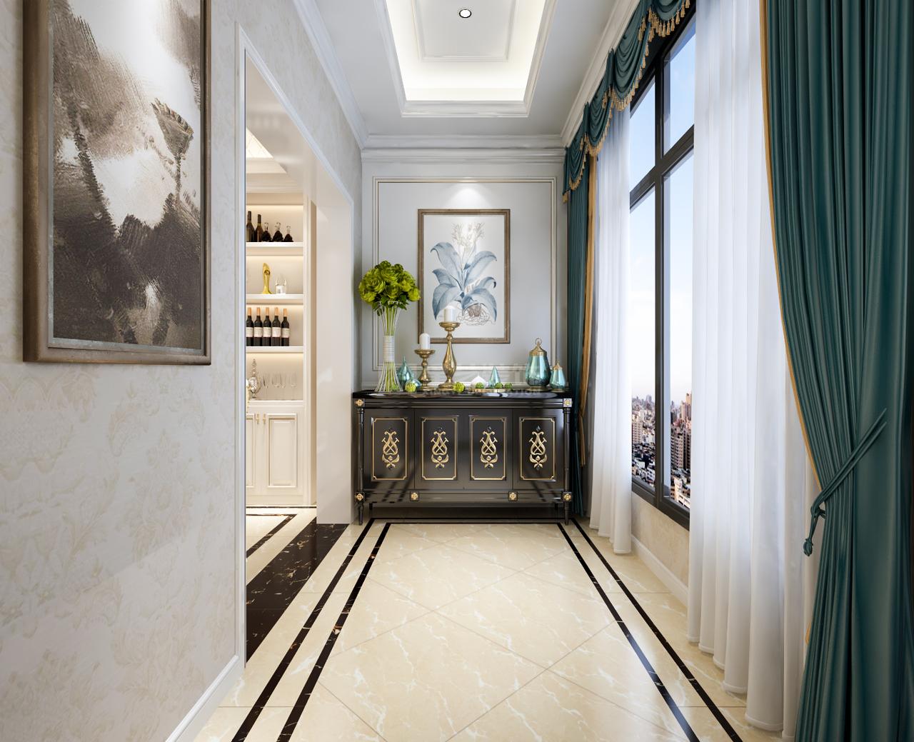 首开紫郡兼容华贵典雅与时尚现代的欧式风格,欧式,大平层,126.5㎡