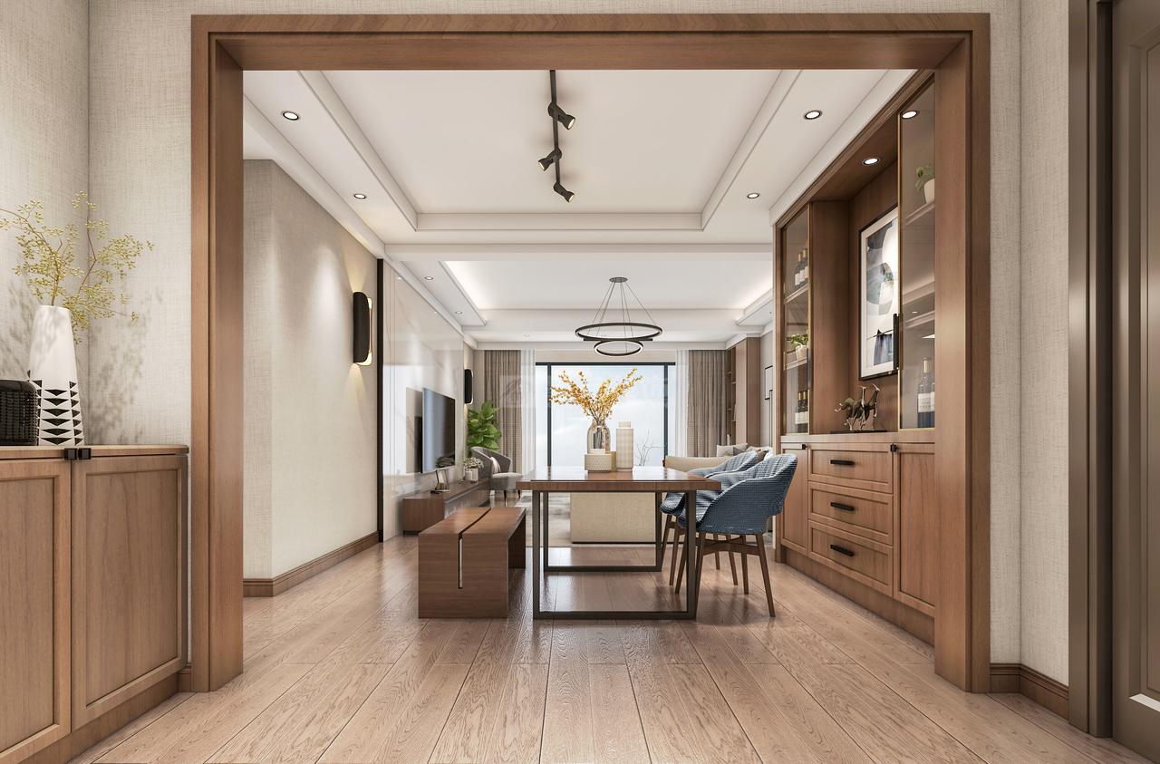 无主灯设计融入线条的流畅美,整个家居更简单大气,舒适而宁静。