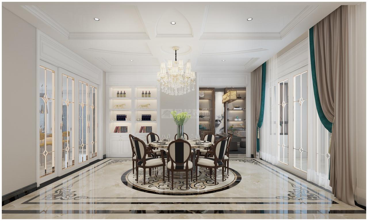 中铁生态城白晶谷欧式风格别墅有情感的家居才是你本来的样子!,欧式,复式,369.0㎡