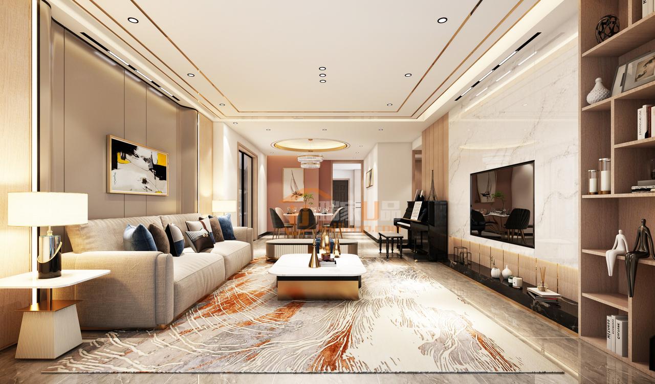 墙角一侧的橱柜,展示主人不俗的品味,将人文与艺术串联,塑造一个现代优雅的生活空间。