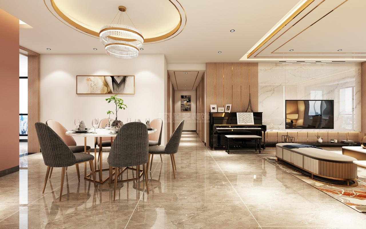 餐厅与客厅相互连通又相对独立,灵活可变,让空间的每一部分都能得到高效利用。