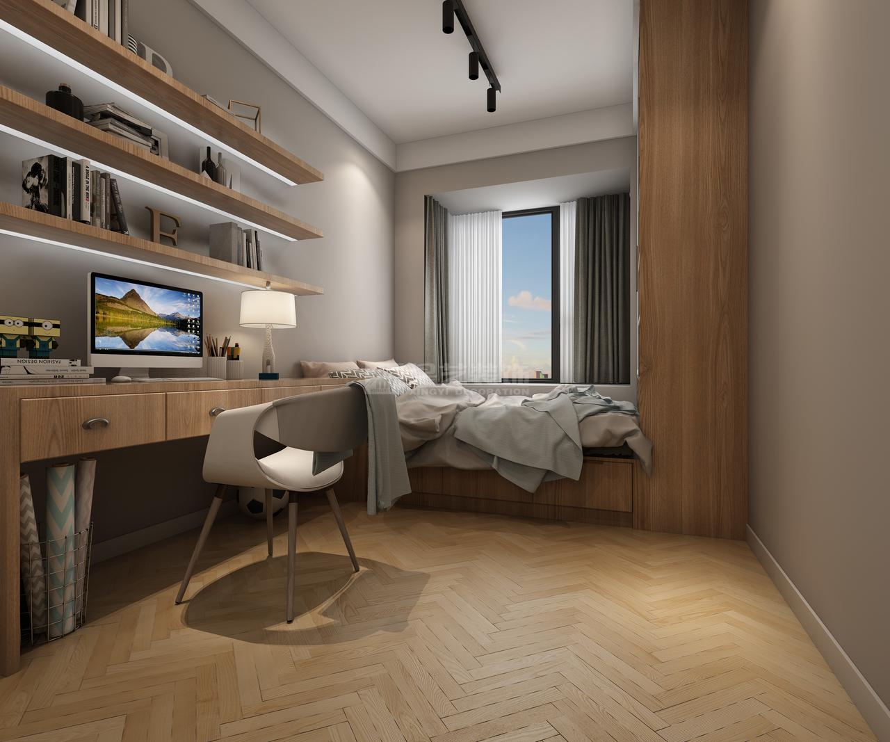 中铁逸都E区洋房现代简约风格装修,现代,后现代,三居室,120.0㎡