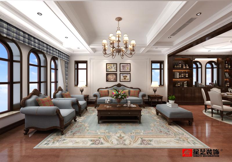 大连小平岛梦海南院,美式风格,大连装修设计,大连装修案例,大连装修效果图,大连装修设计方案