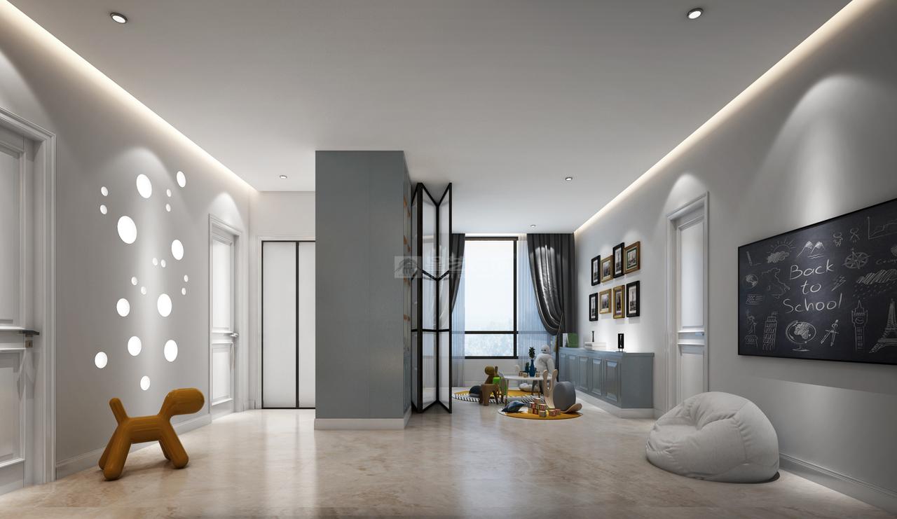 设计师在近300平方米的家居空间中,利用现代简约手法把空间划分、功能布局做的游刃有余。