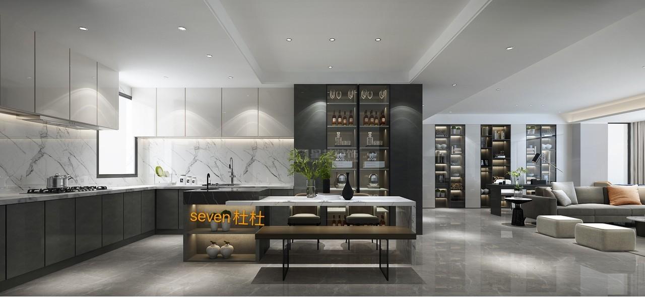 首钢贵州之光现代简约风格设计高级质感与时尚完美呈现,现代简约,现代,别墅大宅,162.0㎡