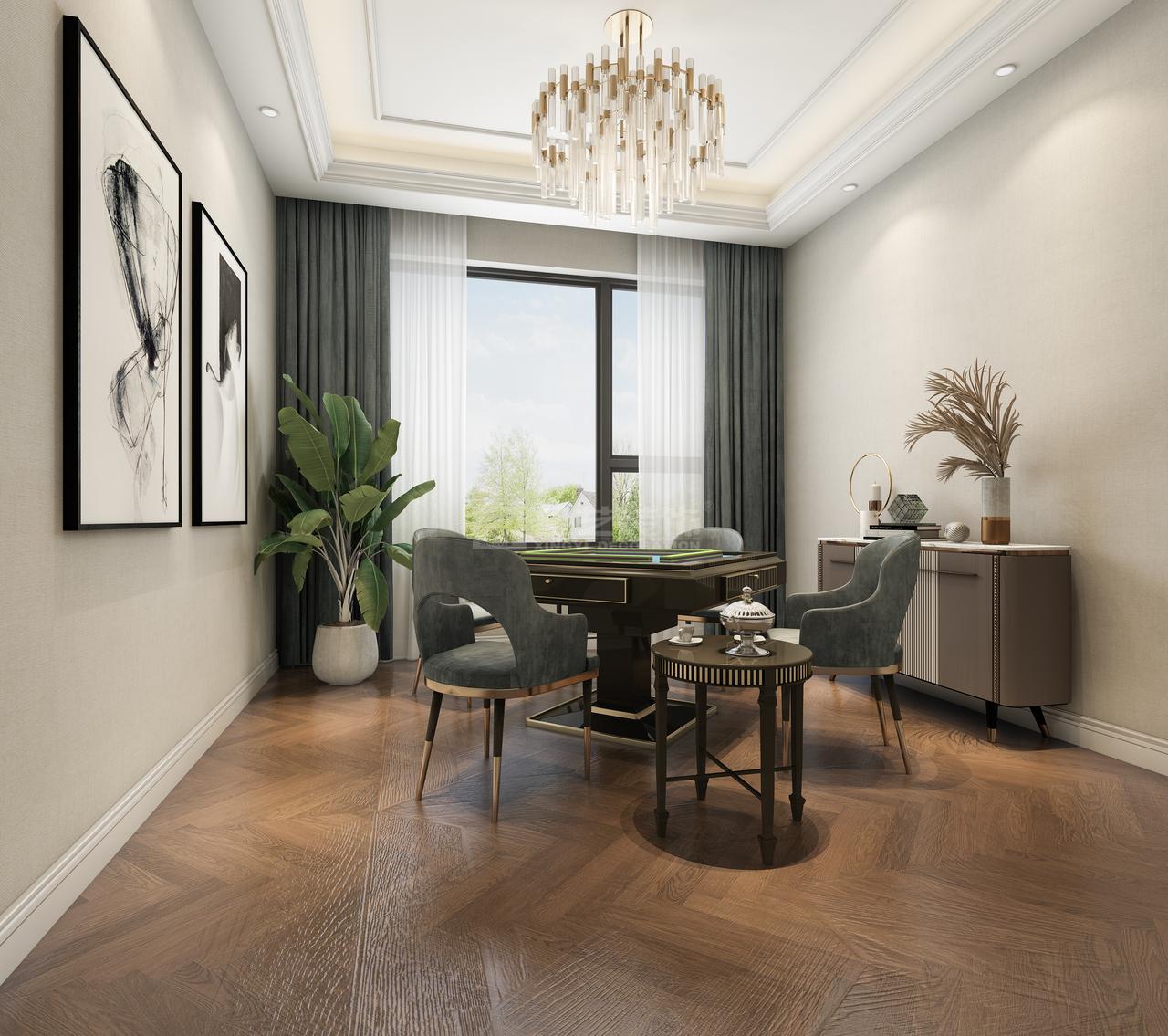 简欧风格以简单演绎精致和浪漫、从整体到局部精雕细琢、每一个空间色彩搭配,设计师都全方位去考虑,再融入现代时尚元素及欧式风格的贵气。
